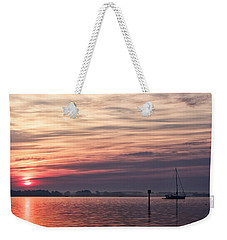 Sailboat At Dawn Weekender Tote Bag