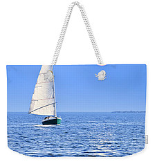 Sailboat At Full Moon Weekender Tote Bag