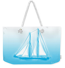 Sailboat Background Weekender Tote Bag by Methune Hively