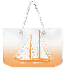 Sailboat Background Orange Weekender Tote Bag by Methune Hively