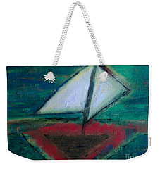 Weekender Tote Bag featuring the painting Sailboat by Jacqueline McReynolds