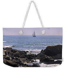 Sailboat - Maine Weekender Tote Bag by Photographic Arts And Design Studio