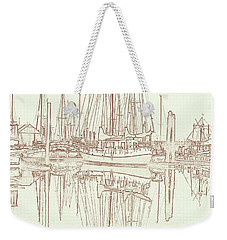 Weekender Tote Bag featuring the photograph Sailboat On Liberty Bay by Greg Reed