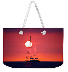 Sailboat Sunset Weekender Tote Bag