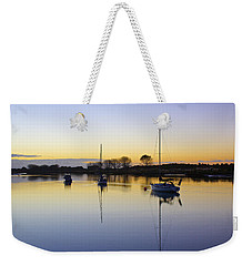Sailboats In Whakatane At Sunset Weekender Tote Bag by Venetia Featherstone-Witty