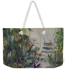 Sailboats Through The Trees Weekender Tote Bag