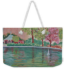 Sailin' Away In Central Park Weekender Tote Bag by Margaret Bobb