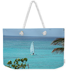 Weekender Tote Bag featuring the photograph Sailing by David S Reynolds