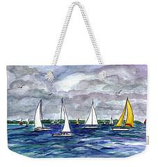 Sailing Day Weekender Tote Bag by Clara Sue Beym
