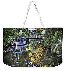 Weekender Tote Bag featuring the photograph Sailing Down The River by Deborah Klubertanz