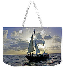 Weekender Tote Bag featuring the photograph Sailing In Aruba by Suzanne Stout