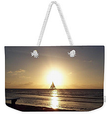 Sailing Into The Sunset Weekender Tote Bag by David and Lynn Keller