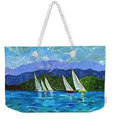 Sailing Weekender Tote Bag by Laura Forde