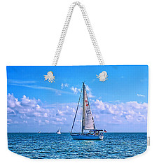 Sailing Off Of Key Largo Weekender Tote Bag
