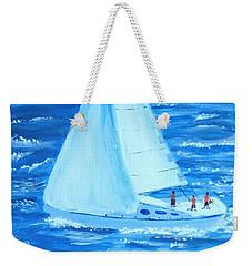 Sailing Off The Coast Weekender Tote Bag