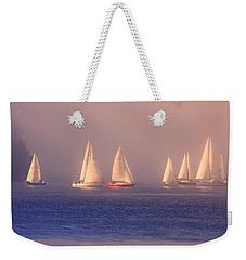 Sailing On A Misty Ocean Weekender Tote Bag