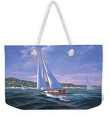Sailing On Monterey Bay Weekender Tote Bag