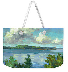 Sailing On Puget Sound Weekender Tote Bag