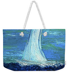 Sailing On The Blue Weekender Tote Bag by Dick Bourgault