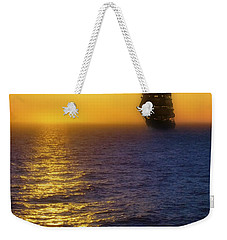 Sailing Out Of The Fog At Sunrise Weekender Tote Bag