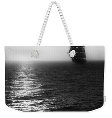 Sailing Out Of The Fog - Black And White Weekender Tote Bag
