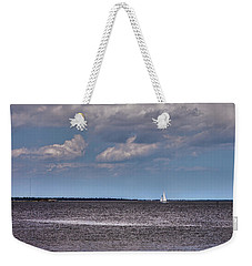Weekender Tote Bag featuring the photograph Sailing by Sennie Pierson