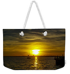 Sailing The Sunset Weekender Tote Bag
