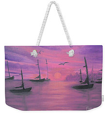 Sails At Dusk Weekender Tote Bag by Holly Martinson