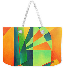 Weekender Tote Bag featuring the painting Sails At Sunrise by Tracey Harrington-Simpson