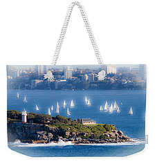 Weekender Tote Bag featuring the photograph Sails Out To Play by Miroslava Jurcik