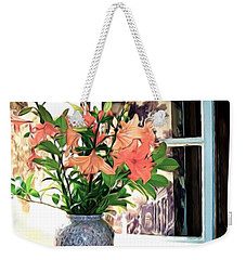 Weekender Tote Bag featuring the photograph Saint Emilion Window by Joan  Minchak