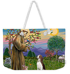 Saint Francis Blesses A Beagle Weekender Tote Bag