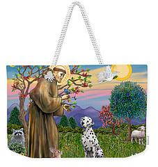 Saint Francis Blesses A Dalmatian Weekender Tote Bag