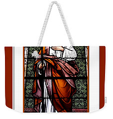 Saint Joseph  Stained Glass Window Weekender Tote Bag