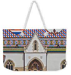 Saint Mark Church Facade Vertical View Weekender Tote Bag by Brch Photography