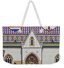 Saint Mark Church Facade Vertical View Weekender Tote Bag