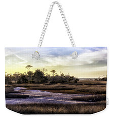 Saint Marks Wetland Sunset Weekender Tote Bag by Lynn Palmer