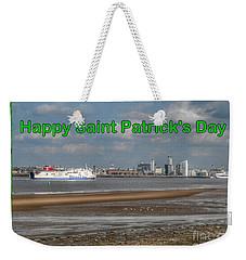 Saint Patrick's Greeting Across The Mersey Weekender Tote Bag