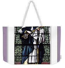 Saint Rose Of Lima Stained Glass Window Weekender Tote Bag