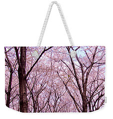 Weekender Tote Bag featuring the photograph Sakura Tree by Andrea Anderegg