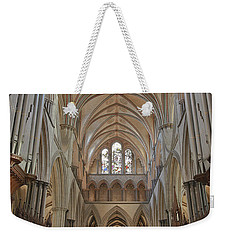 Salisbury Cathedral Quire And High Altar Weekender Tote Bag by Terri Waters