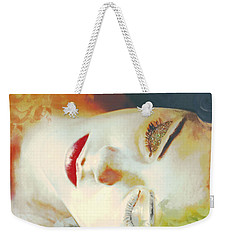 Weekender Tote Bag featuring the digital art Sally Sleeps by Kim Prowse