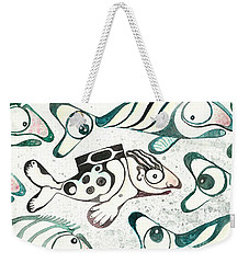 Salmon Boy The Swimmer Weekender Tote Bag by Melinda Dare Benfield