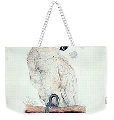 Salmon Crested Cockatoo Weekender Tote Bag by Edward Lear