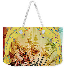 Salmon Love Gold Weekender Tote Bag by Kim Prowse
