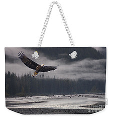 Salmon River Mist Weekender Tote Bag by Stanza Widen
