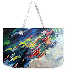 Salmon Run Weekender Tote Bag