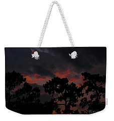 Weekender Tote Bag featuring the photograph Salmon Sunset by Greg Patzer