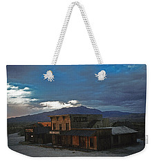 Weekender Tote Bag featuring the photograph Saloon Casino Tom Horn Set Mescal Arizona by David Lee Guss