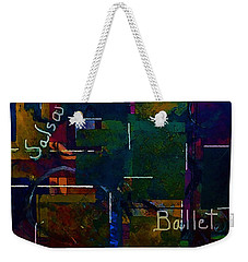 Weekender Tote Bag featuring the painting Salsa Ballet by Lisa Kaiser